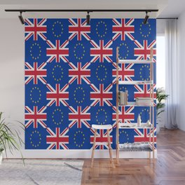 Mix of flag: UE and UK Wall Mural