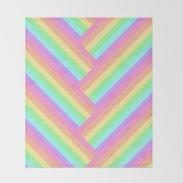 Woven Rainbow Throw Blanket