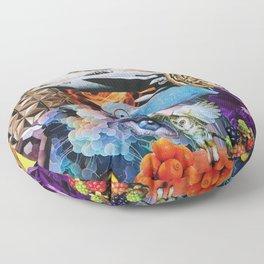Chameleon Collage Floor Pillow
