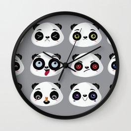 Panda faces Wall Clock