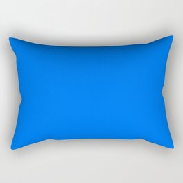 Unfinished ~ Bright Blue Rectangular Pillow