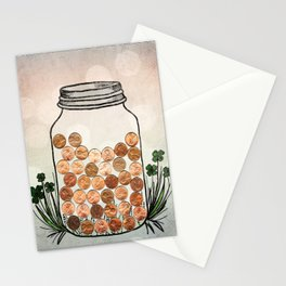 Lucky Pennies Stationery Cards