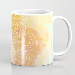 Watercolor Mandala // Sunny Floral Mandala Coffee Mug
