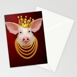 The King of Pigs Stationery Cards