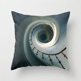 Pretty blue staircase Throw Pillow