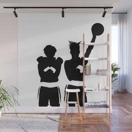 #TheJumpmanSeries, Basquiat X Warhol Wall Mural
