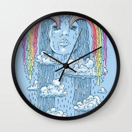 Rainface Wall Clock