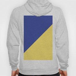 Modern royal blue sunshine yellow trendy color block Hoody