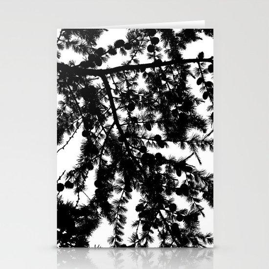 B&W Evergreen Stationery Cards