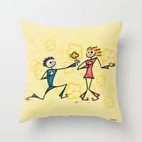 lovers Throw Pillows featuring Lovers by Giuseppe Lentini