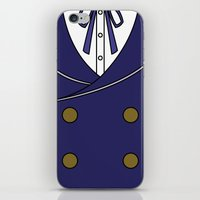 persona 4 iPhone & iPod Skins featuring Persona 4 Naoto Shirogane Jacket by Bunny Frost