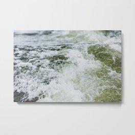Turbulent Lake Water 10 Metal Print