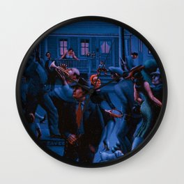 African-American Classical Masterpiece Gettin' Religion by Archibald Motley Wall Clock