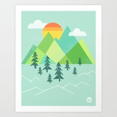 Patchwork Pass Art Print