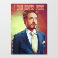 tony stark Canvas Prints featuring Tony Stark - Iron Man by KanaHyde