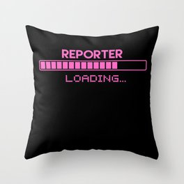 Reporter Loading Throw Pillow