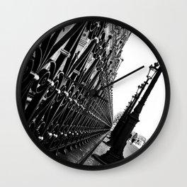 Paris, black and white Wall Clock