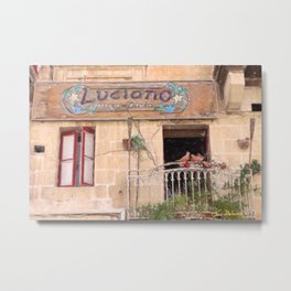 Luciano's Pizza Metal Print