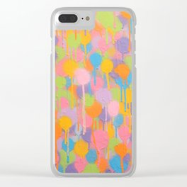 Floating In A Festival Of Candy Colored Balloons Or Swimming In A Sea Of Psychedelic Jellyfish Clear iPhone Case