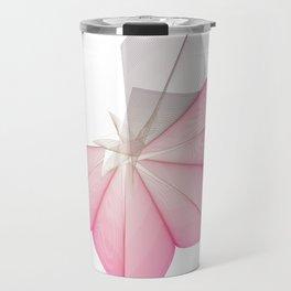 linear flower Travel Mug