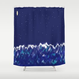 sea at night Shower Curtain