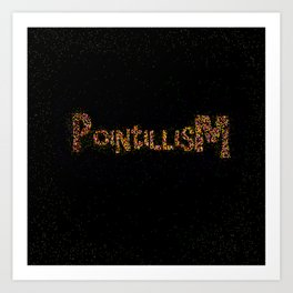 Pointillism Art Print