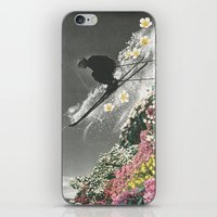 skiing iPhone & iPod Skins featuring Spring Skiing by Sarah Eisenlohr