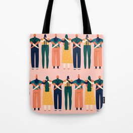 Sisters around the world Tote Bag