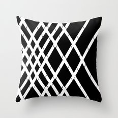 JUST LOVELY- Black Throw Pillow