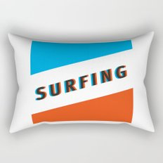 SURFING 3D - Square Rectangular Pillow