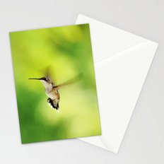 Hummingbird at the Flowers Stationery Cards