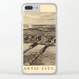 Map Of Atlantic City 1905 Clear iPhone Case