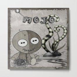 MOJO Gothic Voodoo Doll Folk Art Metal Print