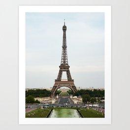 Eiffel Tower Summer Art Print