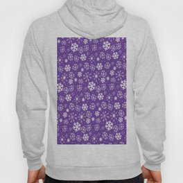 Snowflake Snowstorm With Purple Background Hoody