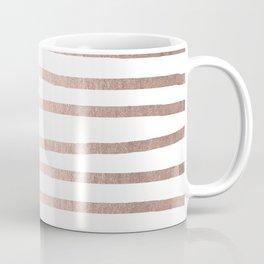 Simply Drawn Stripes Moon Dust Bronze Coffee Mug