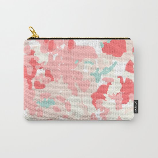 Kelsie - cute abstract minimal pink blush painterly dorm college office trendy decor Carry-All Pouch