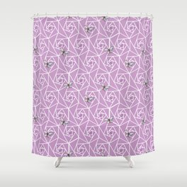 Roses & Butterflies Shower Curtain