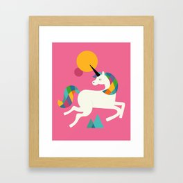 To be a unicorn Framed Art Print