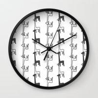 giraffes Wall Clocks featuring Giraffes by Madeleine Groves