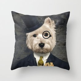 Sir Bunty Throw Pillow