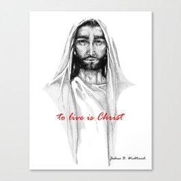 Adonai: To Live Is Christ Canvas Print
