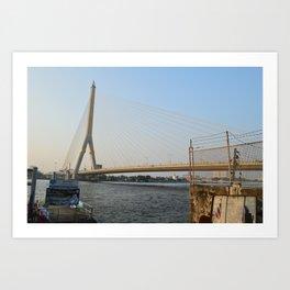 Bridge Bangkok Thailan Art Print