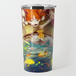 Puzzles of Imagination: Koi Pond Travel Mug