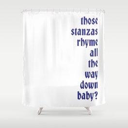 Stanzas Shower Curtain