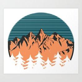 Sawtooths Art Print