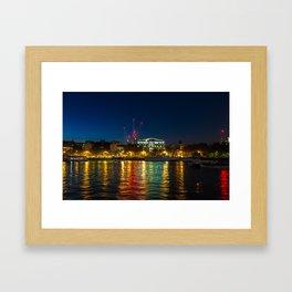 Victoria Embankment, London, at night Framed Art Print