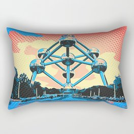 The Atomium Comic Book Release Edition Atomic Bonds Rectangular Pillow