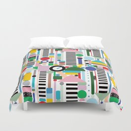 Memphis Milano Postmodern City Towers Duvet Cover