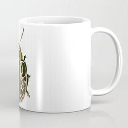 Green, White, Pink Beetle Coffee Mug